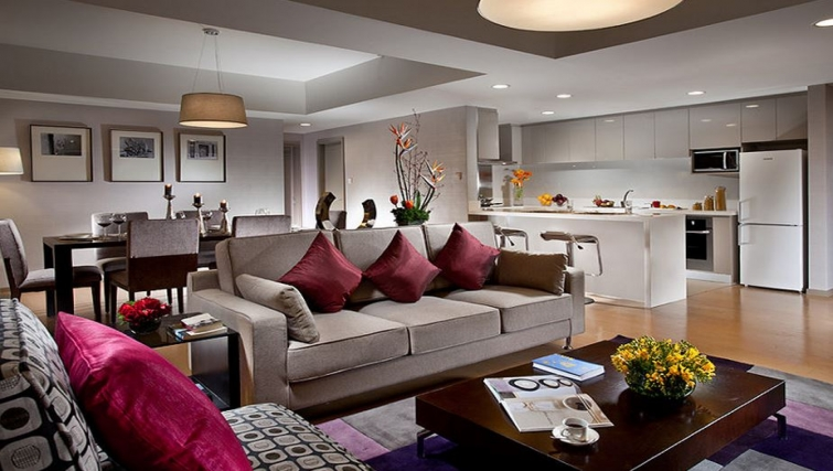 Stunning living area in Somerset Heping Apartments