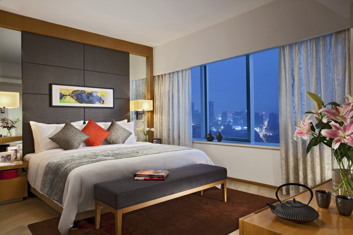 Spacious bedroom at Somerset Heping Apartments