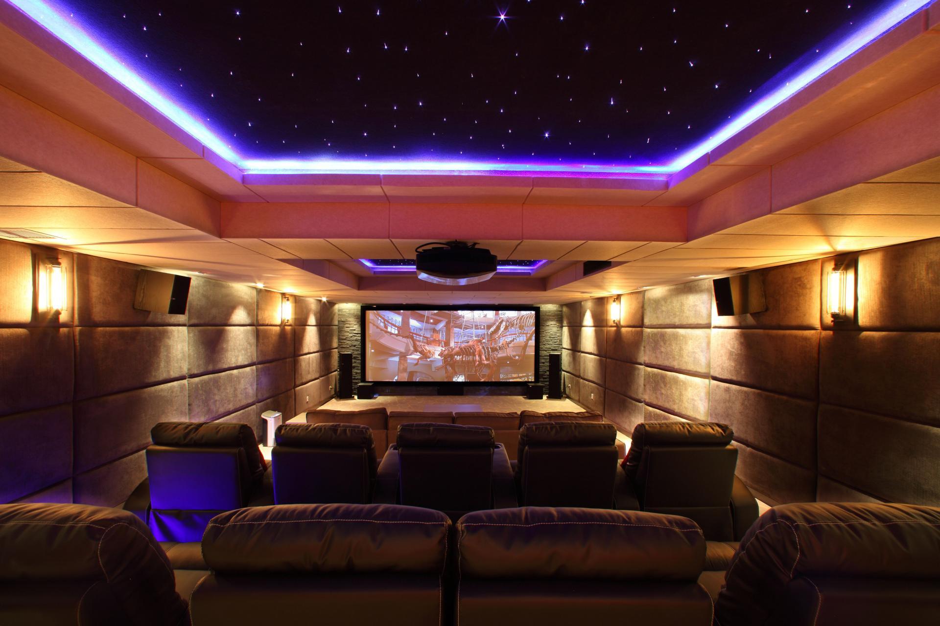 Cinema room at Somerset Heping Apartments