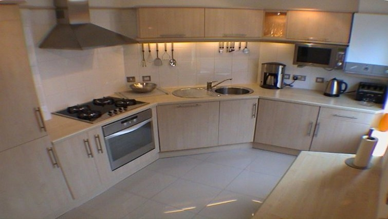 Spacious kitchen in Earle House