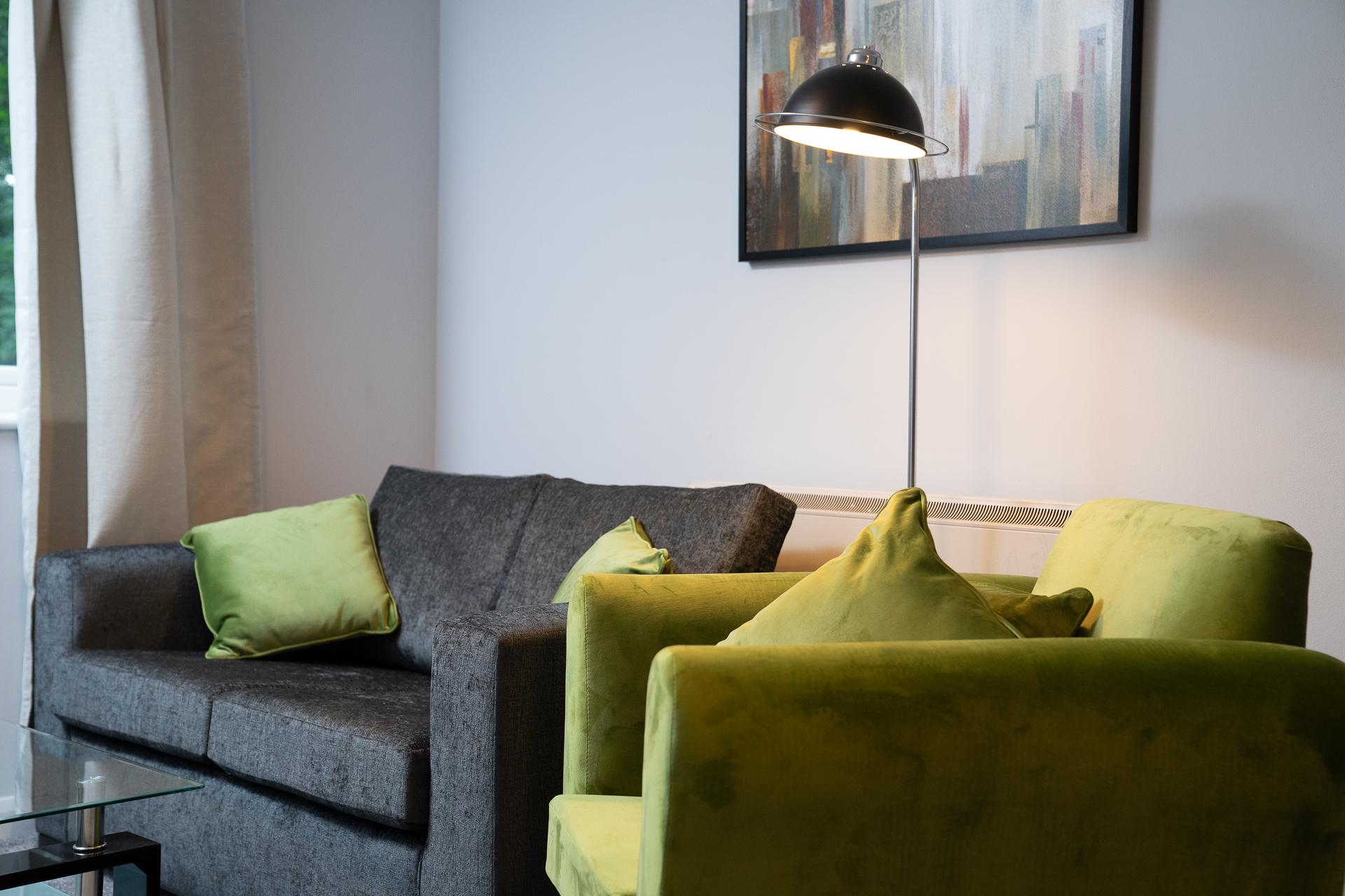 Sofa at Crawley Centre Apartment, Southgate, Crawley