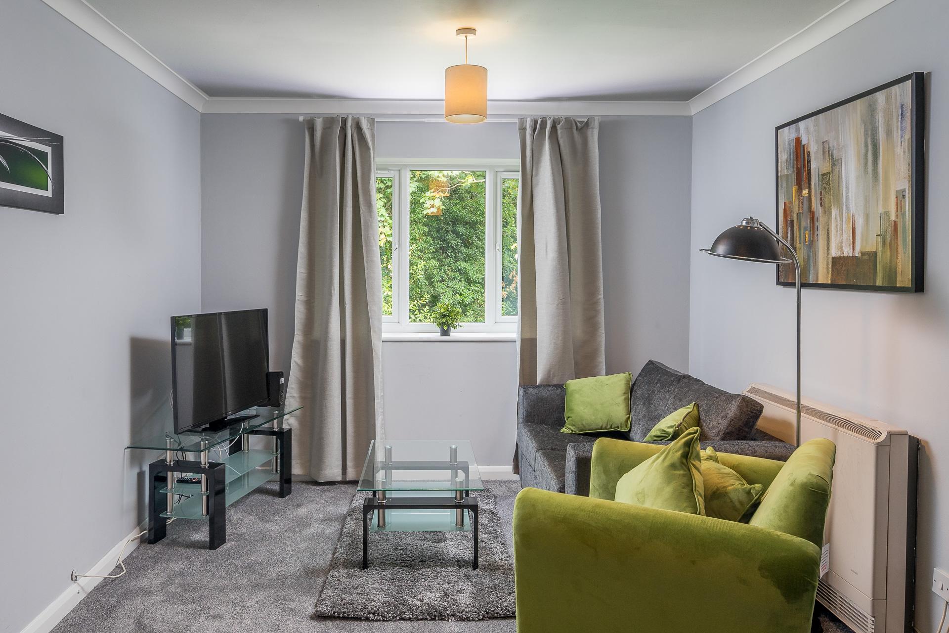 Living area at Crawley Centre Apartment, Southgate, Crawley