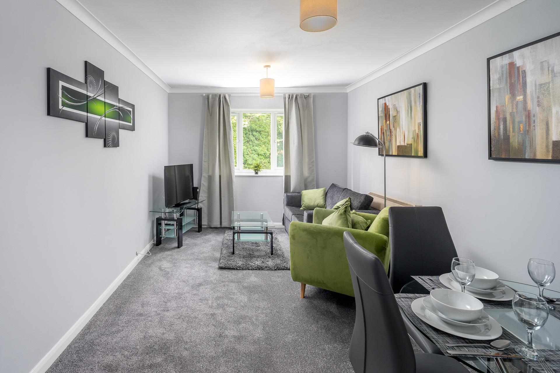 Open-plan at Crawley Centre Apartment, Southgate, Crawley