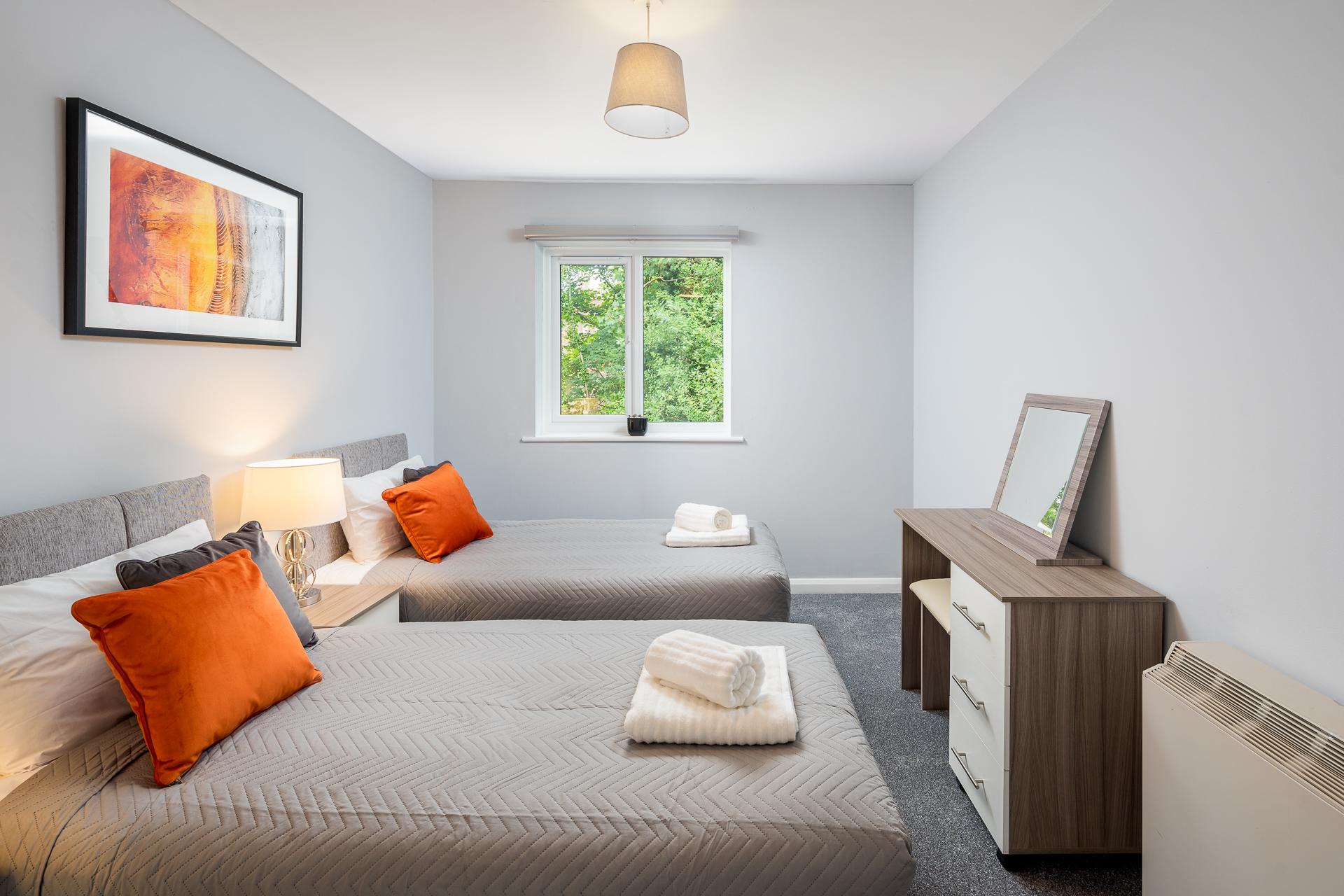 Bedding at Crawley Centre Apartment, Southgate, Crawley