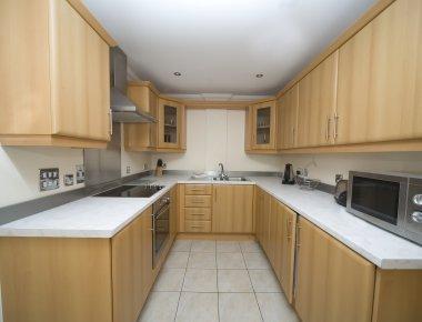 Modern kitchen in Central Park Apartments