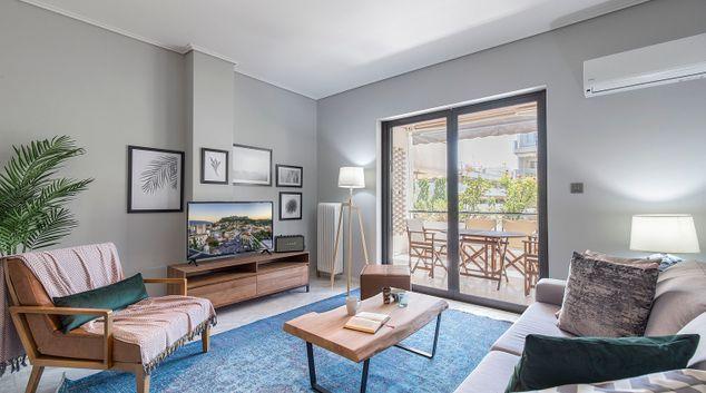 Living area at Marathonodromou VI Apartments, Marousi, Athens