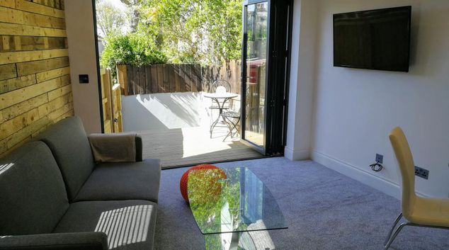 Living are at Derby Den Apartment, St Andrew's, Bristol