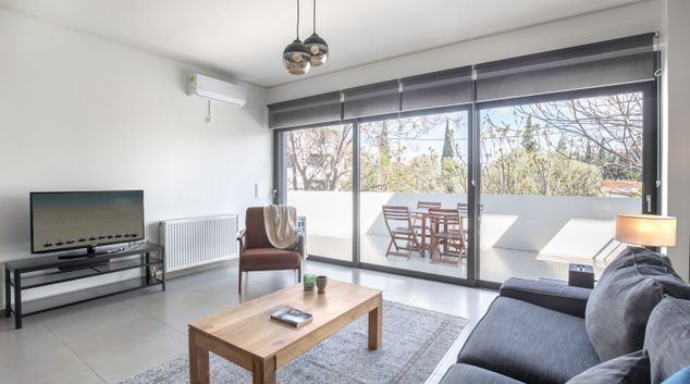 Living area at Dionisou IV Apartments, Marousi, Athens