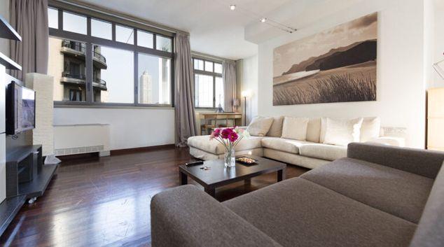 Living area at Lighthouse 1 Apartment, Porta Nuova, Milan