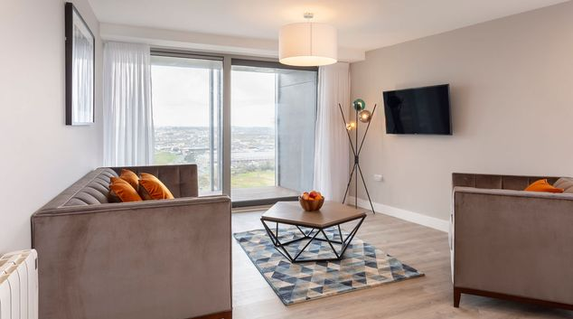 Living area at Dublin City Break Apartments, Santry, Dublin