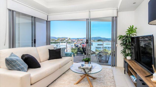 Living area at Kelvin Grove Apartment, Kelvin Grove, Brisbane
