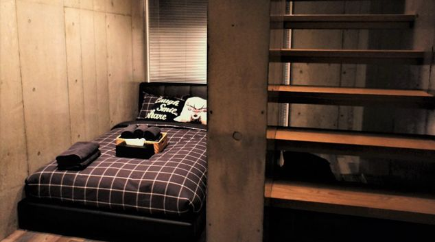Bedroom at Melodia Harajuku Apartments, Shibuya City, Tokyo