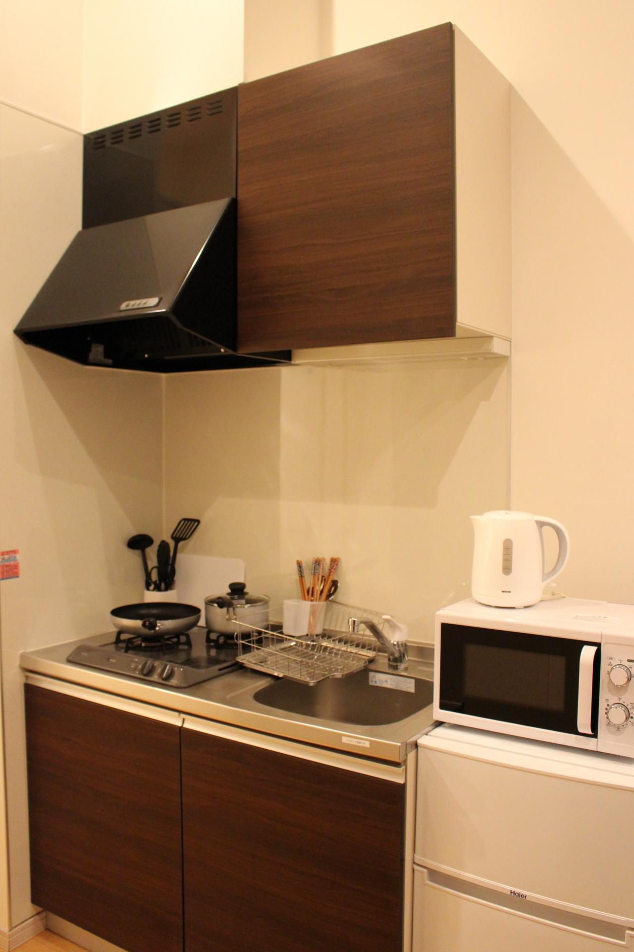 Kitchen at Melodia Harajuku Apartments, Shibuya City, Tokyo