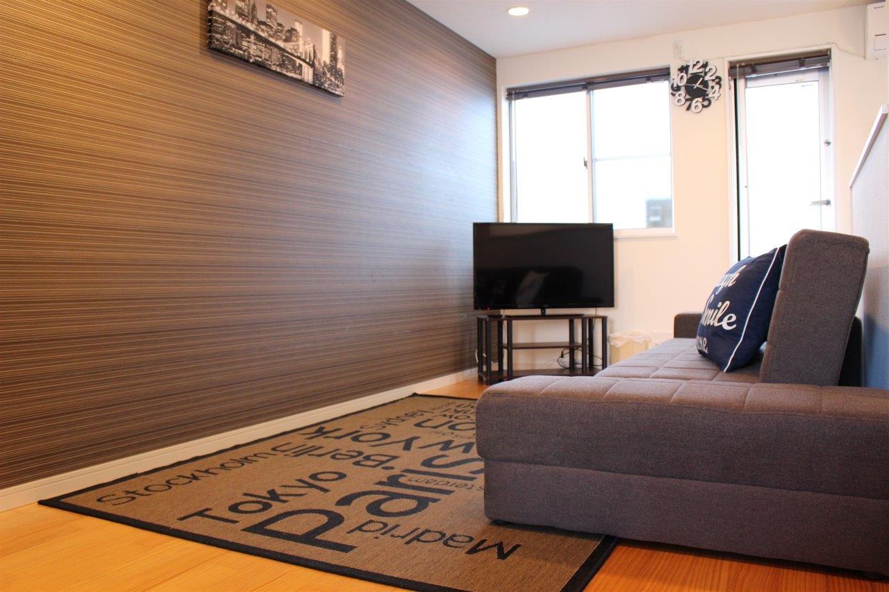 Living area at Melodia Harajuku Apartments, Shibuya City, Tokyo