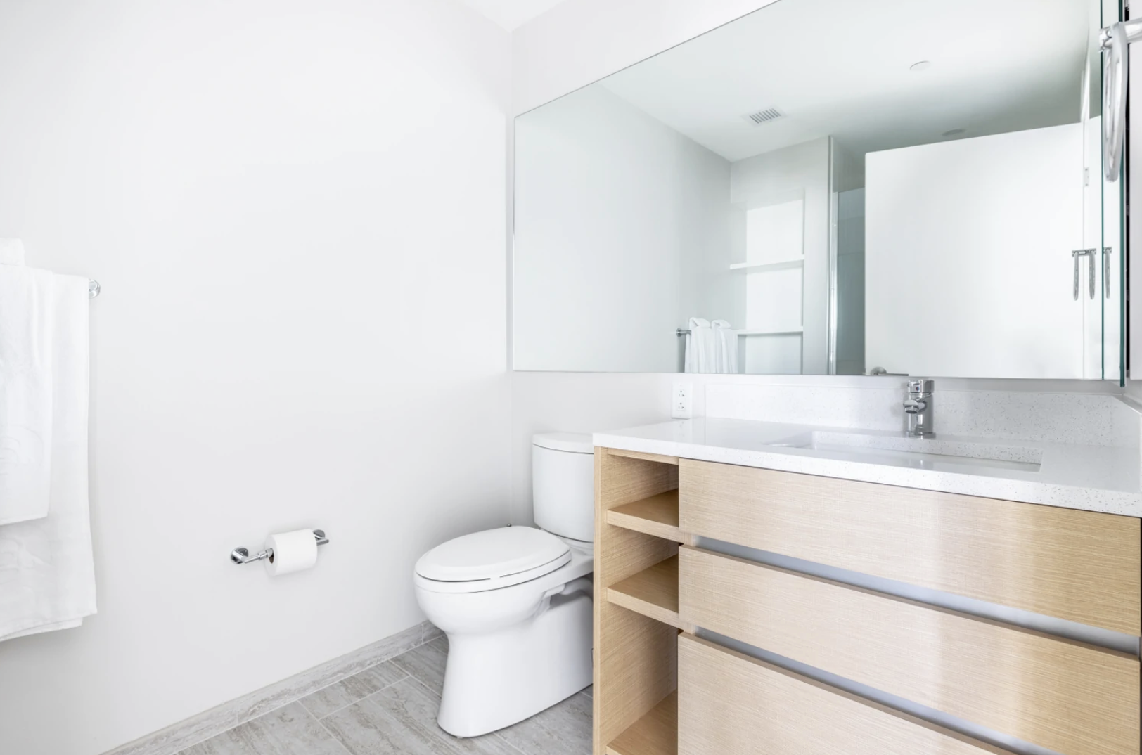 Bathroom at Hub50House Apartments, Centre, Boston