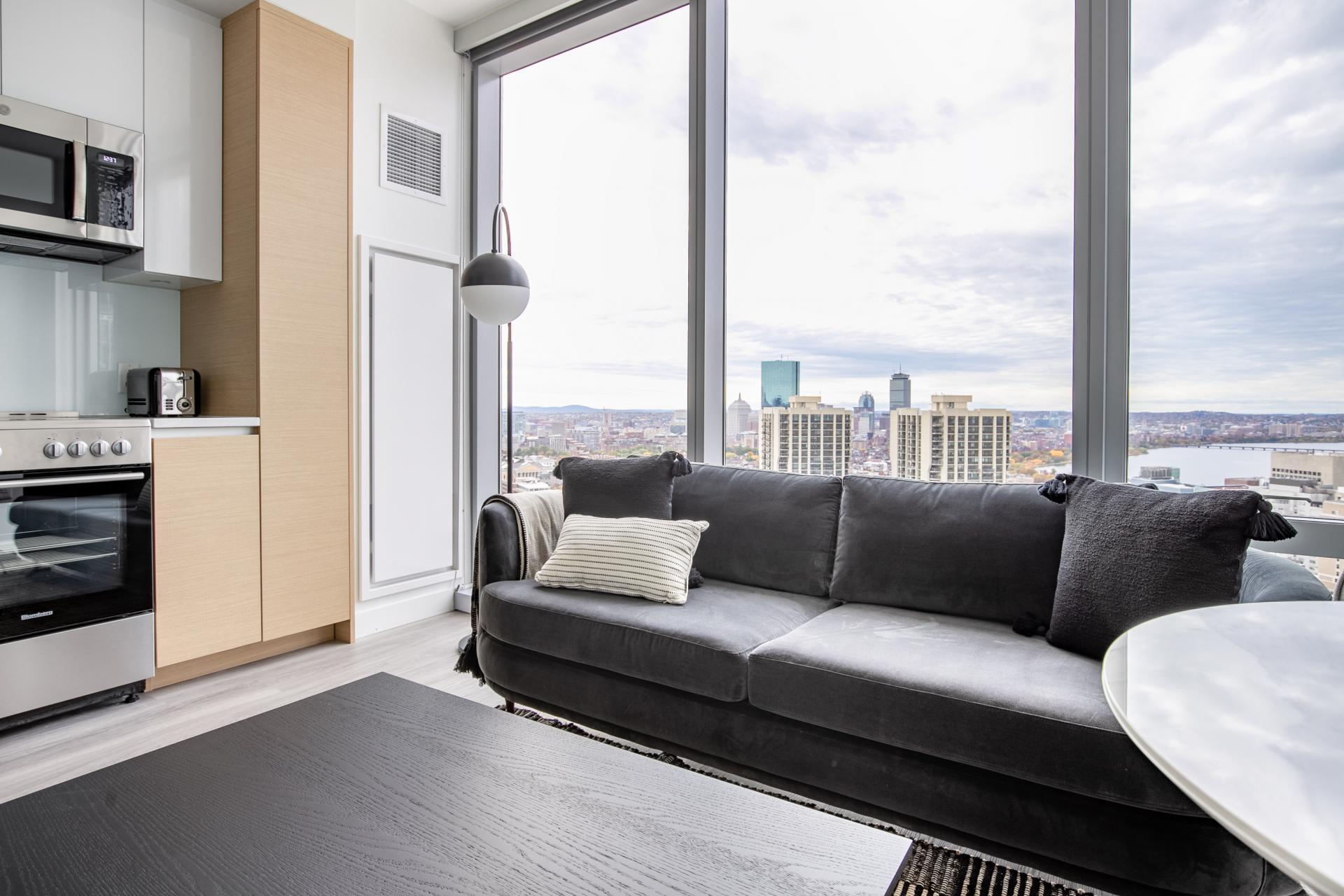 Large window at Hub50House Apartments, Center, Boston