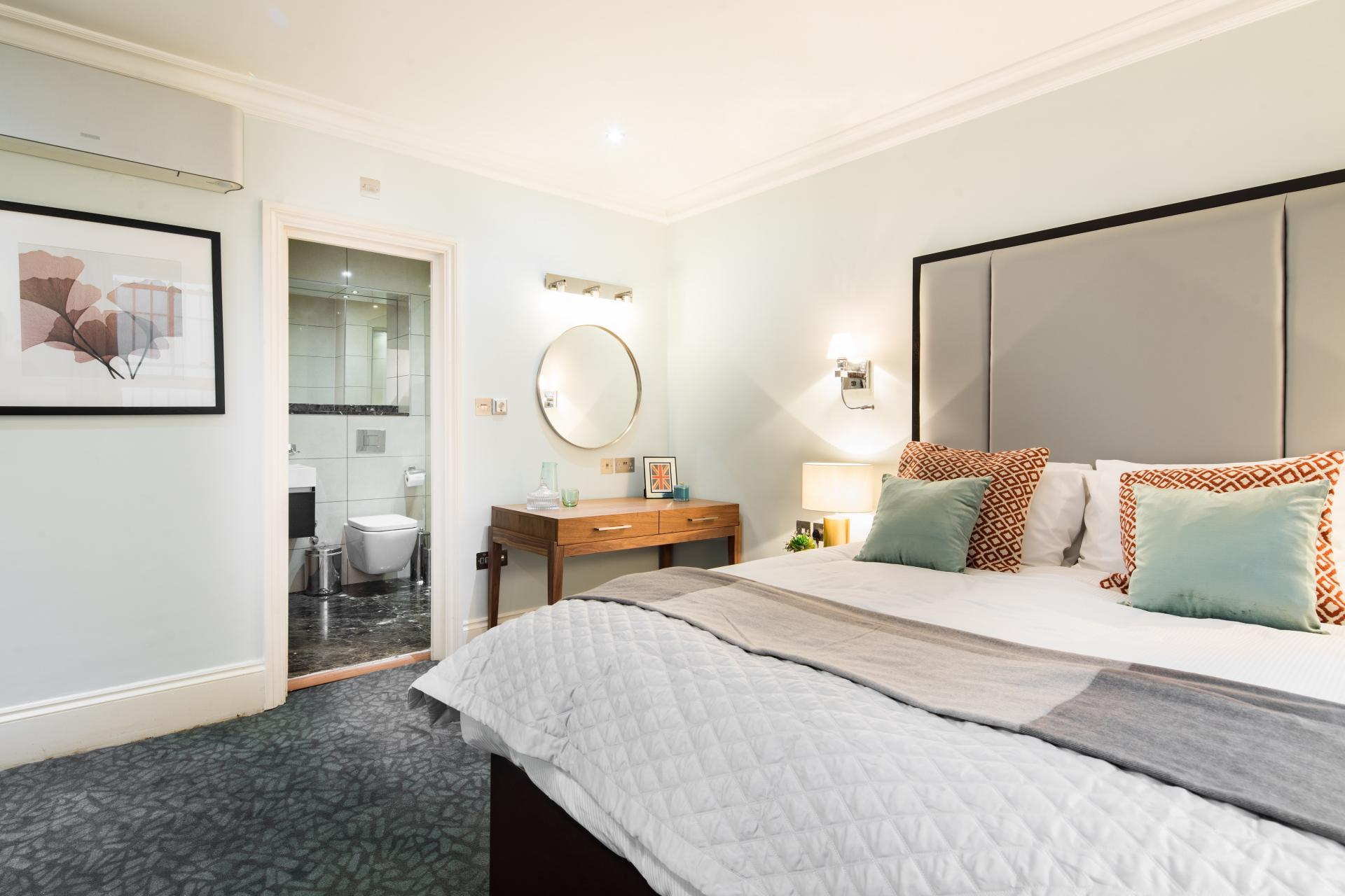 Bedroom at 41 Lancaster Gate Apartments, Bayswater, London