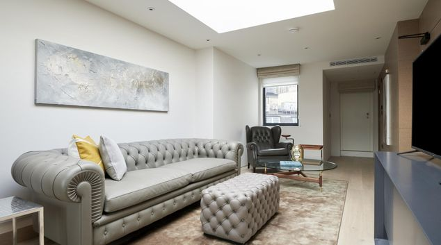 Living area at Maddox Suites, Carnaby, London