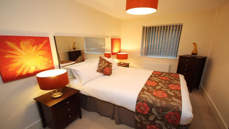 Master bedroom at Merchants Quay Apartments
