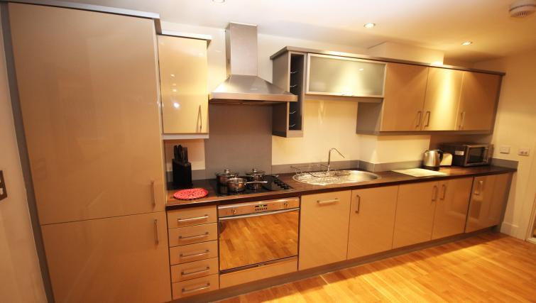 Kitchen at Merchants Quay Apartments