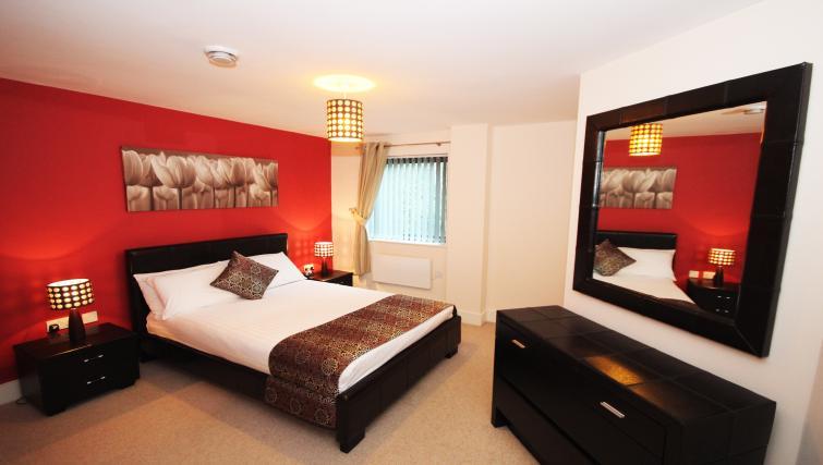 Bedroom at Merchants Quay Apartments