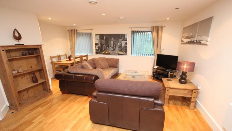 Living area at Merchants Quay Apartments
