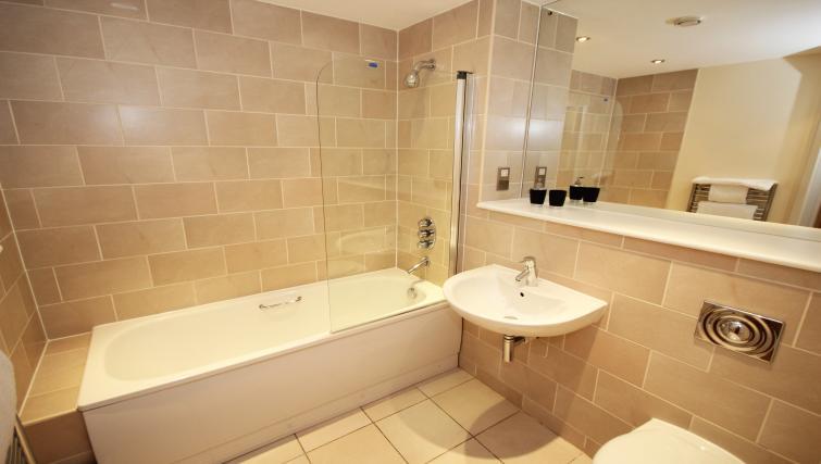 Bathroom at Merchants Quay Apartments