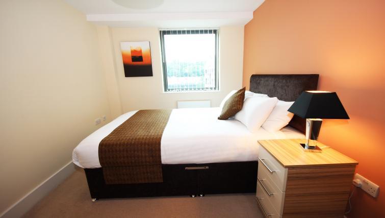Double bedroom at Merchants Quay Apartments
