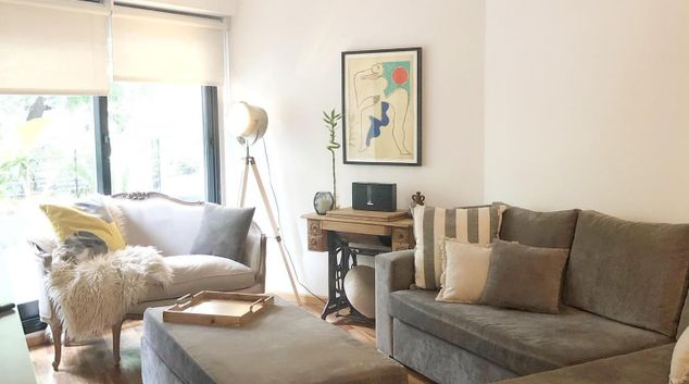 Living area at The Reed Apartment, Recoleta, Buenos Aires