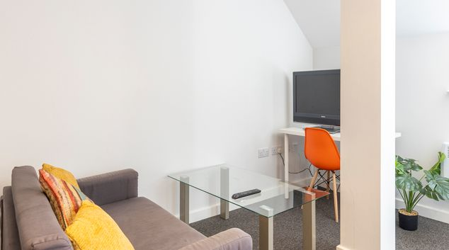 Living area at Church Gate Apartments, Centre, Leicester