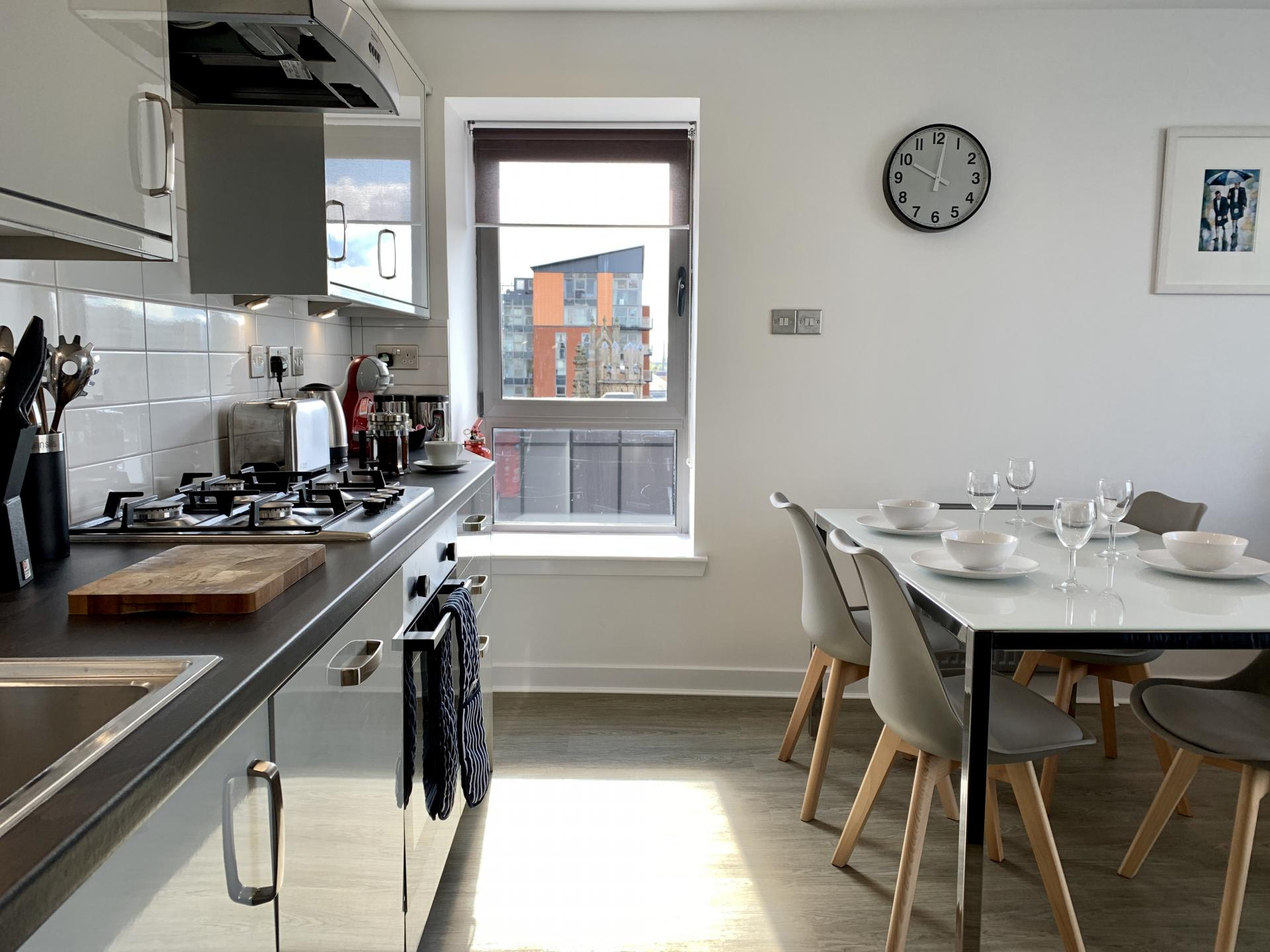 Fully equipped kitchen at Clyde Waterfront Apartment