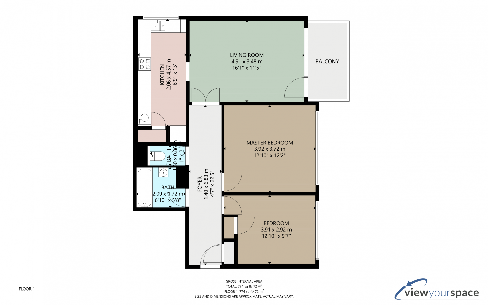 Floor plan of Masefield Serviced Apartment, Centre, Brentwood