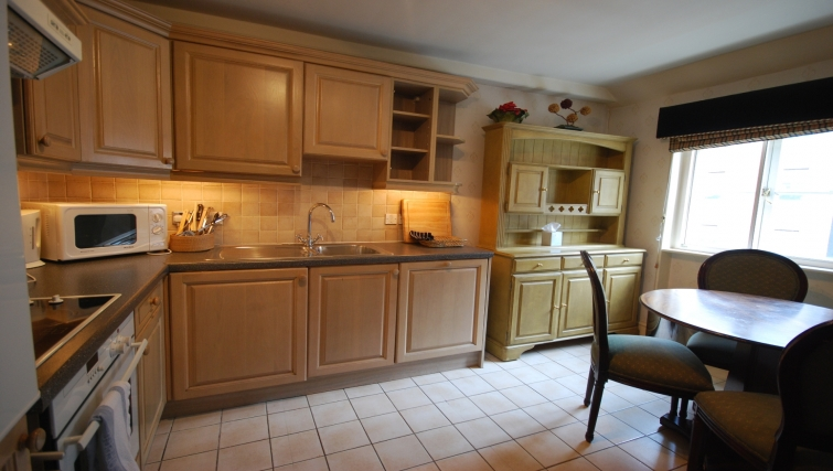 Large kitchen at the The Leonard Apartments