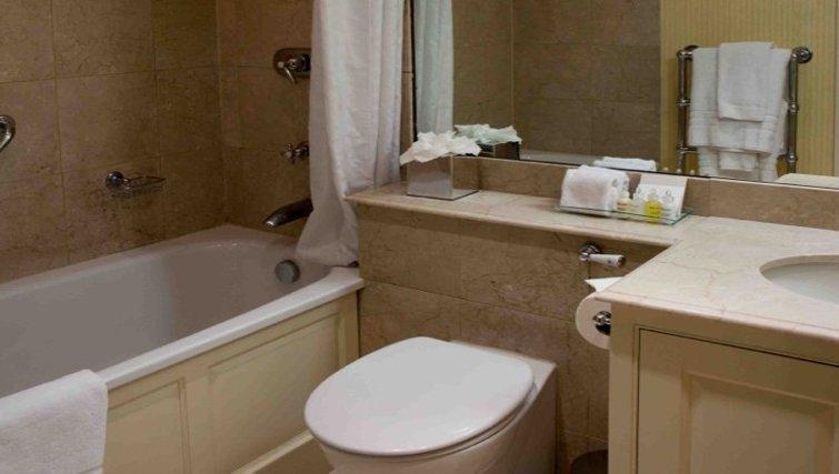 Modern bathroom at the The Leonard Apartments