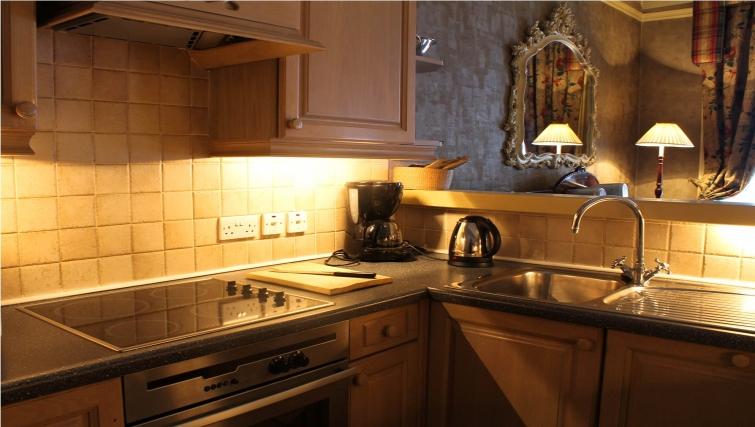 Modern kitchen at the The Leonard Apartments