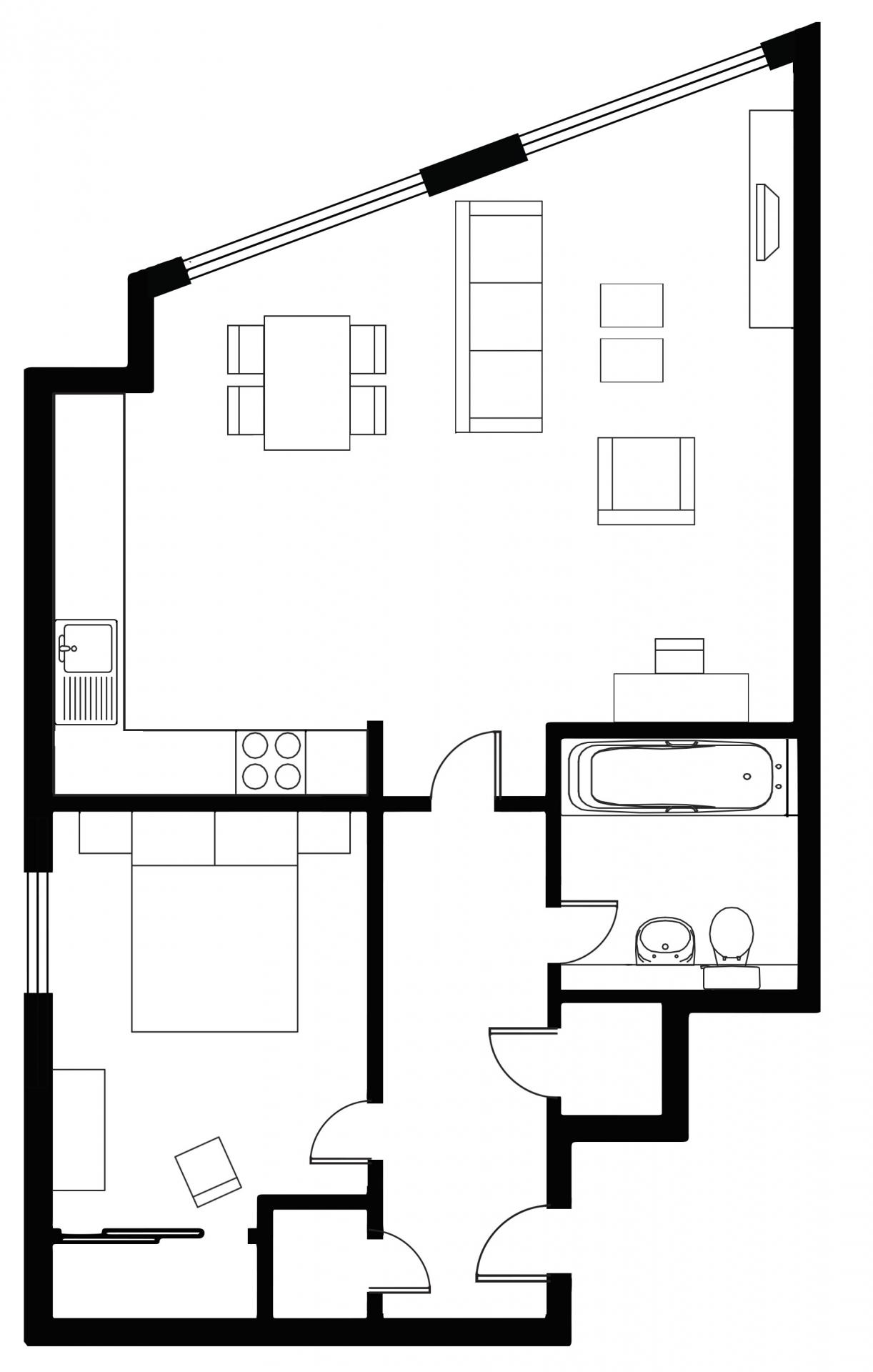 Floor plan 3 at Tolbooth Apartments