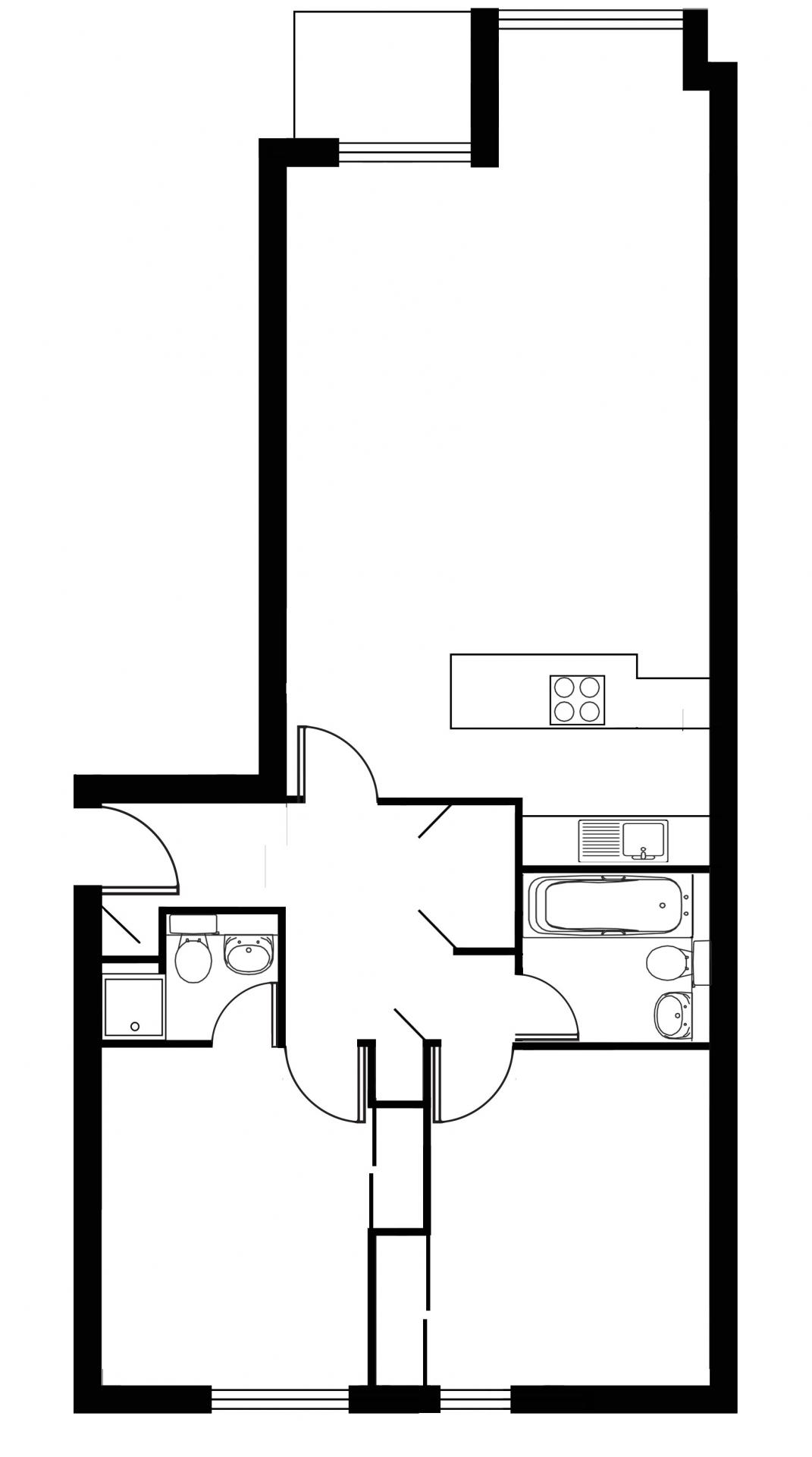 Floor plan 2 at Tolbooth Apartments