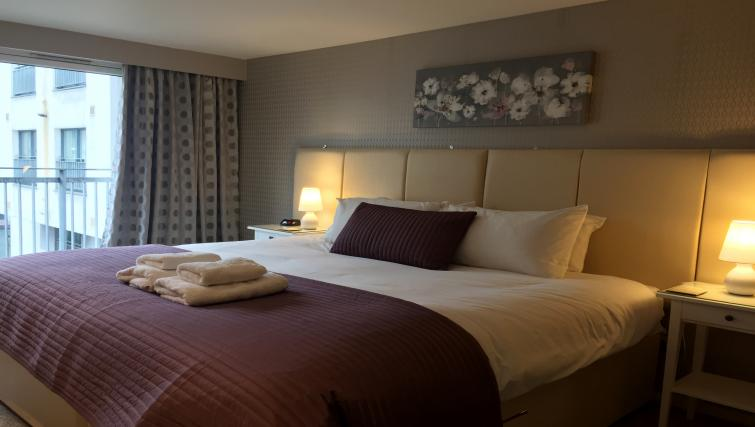 Double bedroom at Tolbooth Apartments