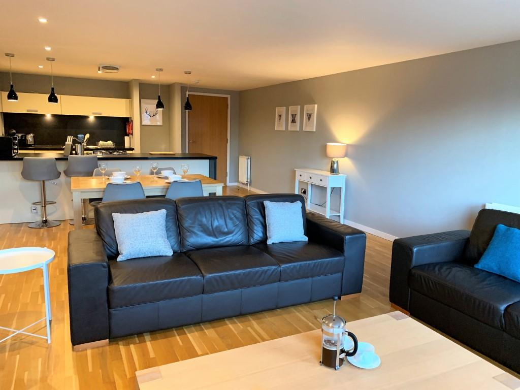 Sofa area at Tolbooth Apartments