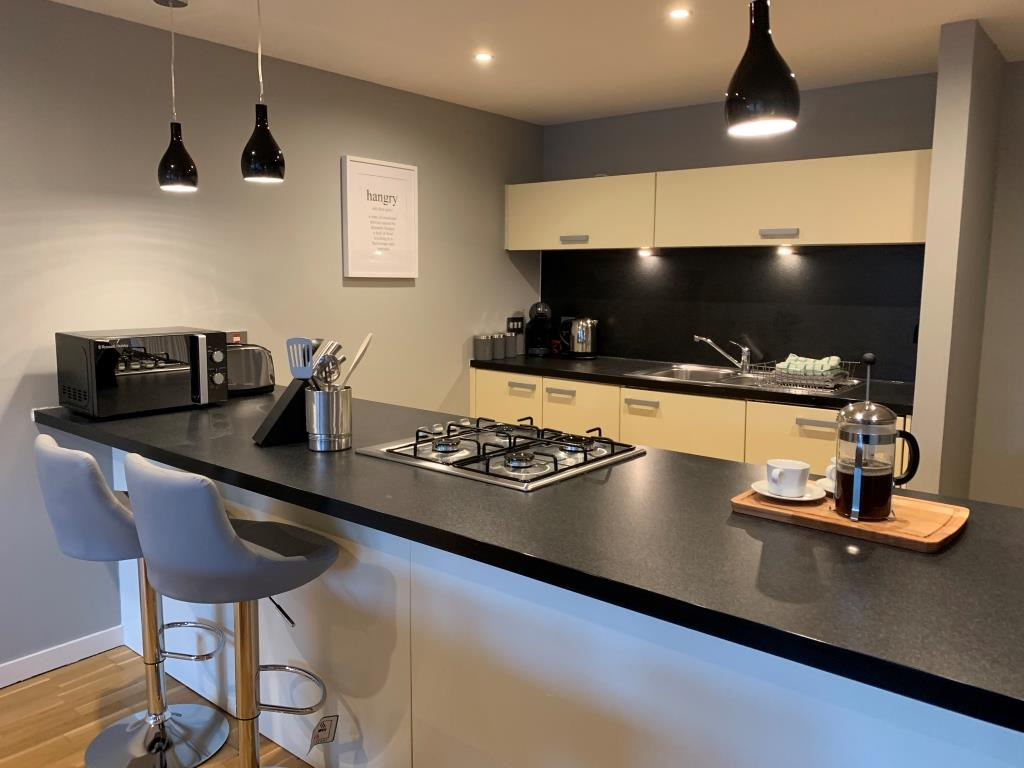 Kitchen area at Tolbooth Apartments