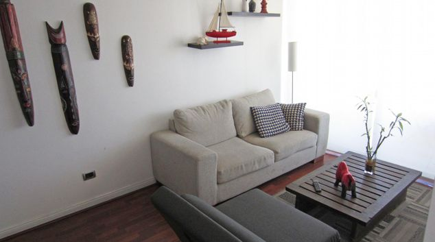 Living area at El Cosmopolita Apartment, Las Condes, Santiago