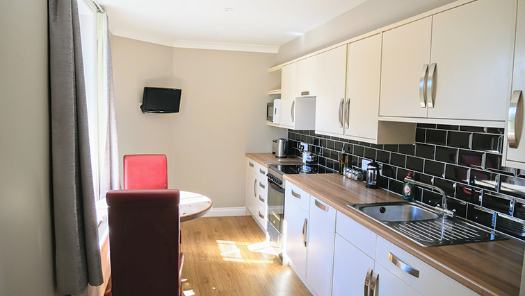 Kitchen facilities at Peartree Serviced Apartments
