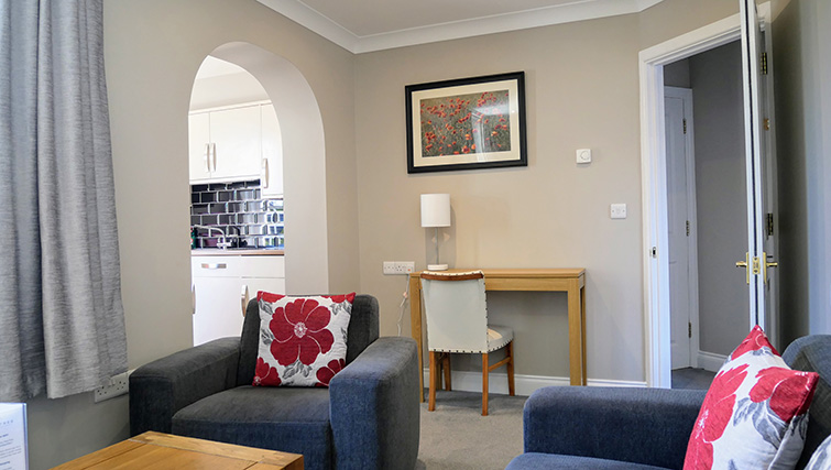 Living room at Peartree Serviced Apartments