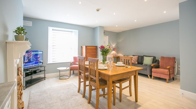 Living area at Pearse Square Apartments, Grand Canal Dock, Dublin