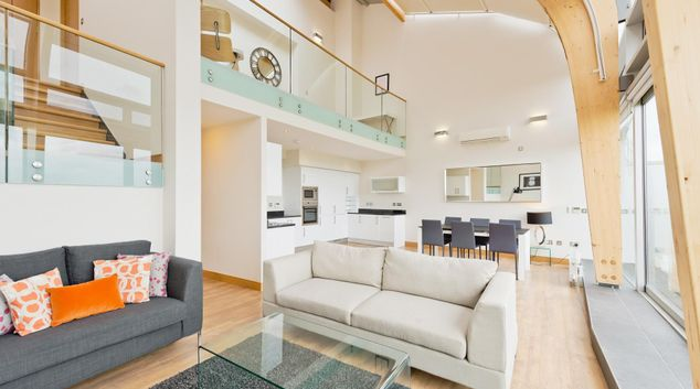 Living area at The Links Penthouse, Merrion, Dublin
