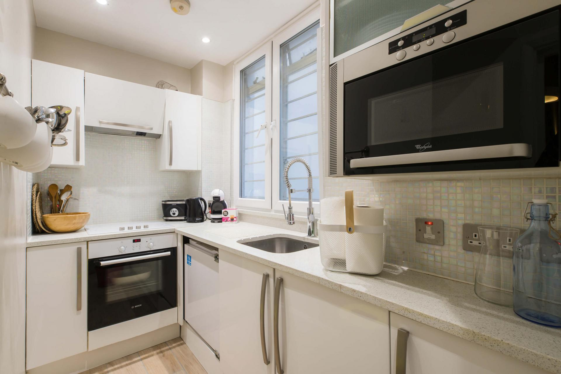Kitchen at Westbourne Gardens Apartment, Bayswater, London