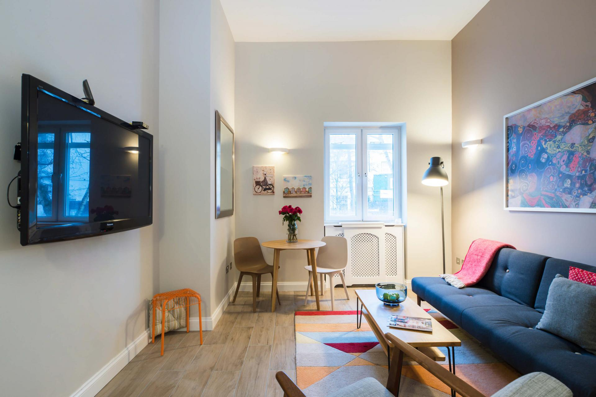 TV at Westbourne Gardens Apartment, Bayswater, London