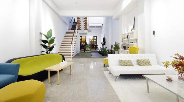 Living area at Monochrome Apartments, Kallang, Singapore