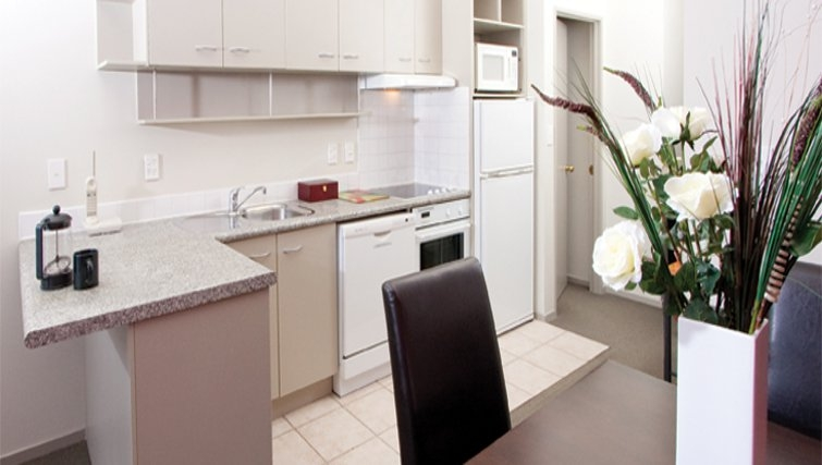 Clean kitchen at Quest on Eden