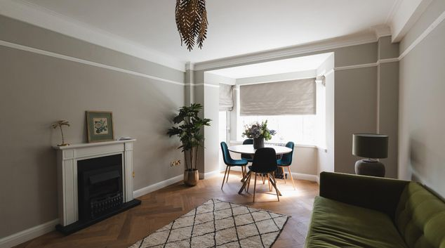 Living area at Redcliffe Close Suite, Earls Court, London